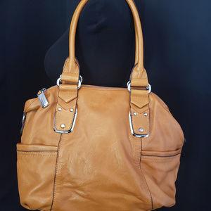 b. makowski caramel shoulder bag